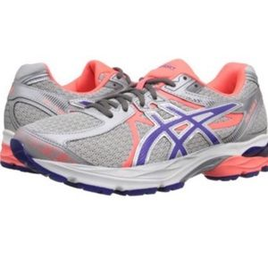 Asics W Gel Flux 3 Silver/Berry/Coral T664N Size 8
